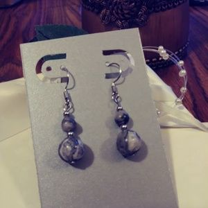 Handmade Jewelry - Landscape Jasper Earrings